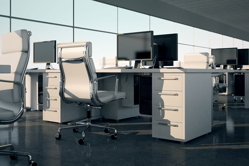 Common OSHA Violations in the Workplace an office chair and desk