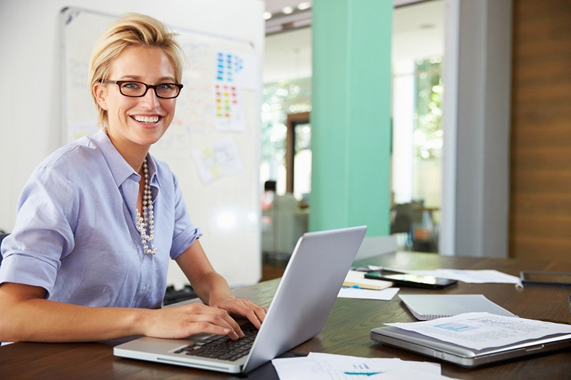 a woman business owner